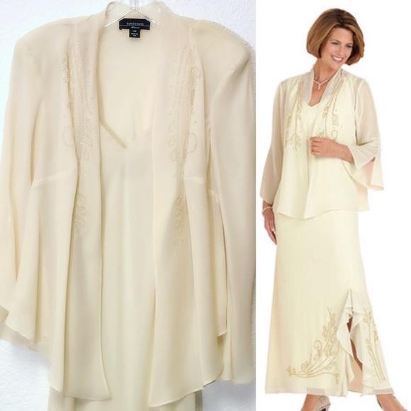 f19ebad8 R&M Richards Dresses | Beaded Dress Jacket Set | Poshmark